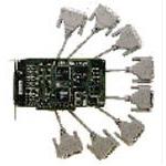MOXA C218T/PCI(8串口智能卡+一拖八电缆) 多用户卡/MOXA