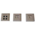 威图方形弹簧式双口面板(LU-A02) 综合布线/威图