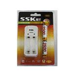 SSK飚王2槽 迷你充电器电池套装 2500mAhx 2 电池/SSK飚王