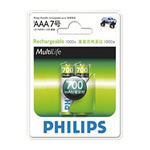 飞利浦700mAh 2节AAA充电电池 电池/飞利浦