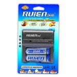 瑞能RM2-804标准充套装(配2节2000mAh 5号镍氢电池) 电池/瑞能