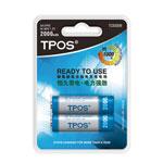 TPOS 镍氢超低自放电充电电池TCB3009(2000mAh 2节装) 电池/TPOS