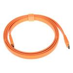 山泽五彩扁平HDMI线 橙色 2米 转接数据线/山泽