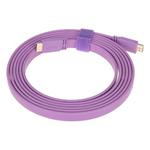 山泽五彩扁平HDMI线 紫色 3米 转接数据线/山泽