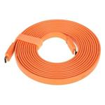 山泽五彩扁平HDMI线 橙色 5米 转接数据线/山泽