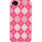 迪思拜尔iPhone 4/4S 英伦风系列磨砂保护套(格子粉) 苹果配件/迪思拜尔
