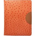 迪思拜尔the new ipad/ipad2 鸵鸟纹系列超薄保护套 橘子橙 苹果配件/迪思拜尔