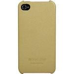 迪思拜尔iPhone 4/4S 简约波点背壳皮套(米黄) 苹果配件/迪思拜尔