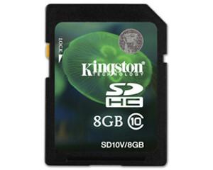 金士顿SDHC卡 Class10 SD10V/8GB图片