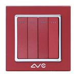 LVC 四位大跷板单极开关LVC6604A 电源设备/LVC