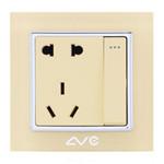 LVC 一位大跷板开关带常规五孔插座LVC6715A 电源设备/LVC