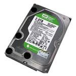 西部数据2TB 5400转 64MB SATA3 绿盘(WD20EZRX) 硬盘/西部数据