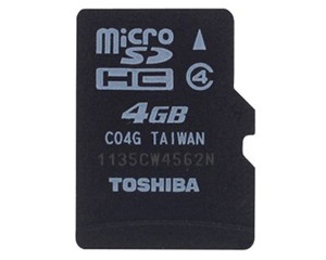 东芝MicroSDHC Class4(4GB)/SD-C04GR7W4图片