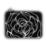 黑贝壳笔记本电脑内胆包 黑玫瑰-10寸 笔记本包/黑贝壳