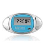 Meilen 多功能计步器心率脉搏走路计数(蓝) 运动跟踪/Meilen