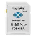 东芝FlashAir WiFi SDHC存储卡 Class10(W-03)(16GB) 闪存卡/东芝