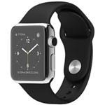 苹果watch(38mm不锈钢表壳搭配白色/黑色运动型表带) 智能手表/苹果