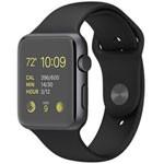 苹果watch Sport(42mm深空灰色铝金属表壳搭配黑色运动型表带) 智能手表/苹果