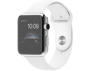 苹果watch(42mm不锈钢表壳搭配白色/黑色运动型表带)