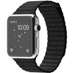 苹果watch(42mm不锈钢表壳搭配黑色/亮蓝色/石纹色/浅棕色皮制回环型表带) 智能手表/苹果