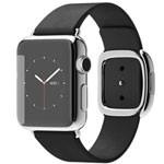 苹果watch(38mm不锈钢表壳搭配黑色/深蓝色/浅粉色/棕色现代风扣式表带) 智能手表/苹果