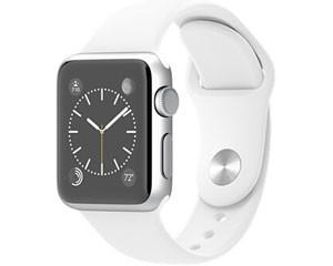 苹果watch Sport(38mm银色铝金属表壳搭配红色/白色/蓝色/绿色/粉色运动型表带)