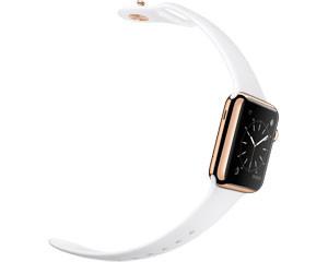 苹果watch Edition(38mm 18K玫瑰金表壳搭配白色运动型表带)