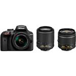 尼康D3400套机(18-55mm VR,55-200mm VR II) 数码相机/尼康