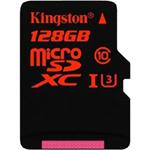 金士顿micro SDXC卡 Class10 UHS-I中国红(128GB) 闪存卡/金士顿
