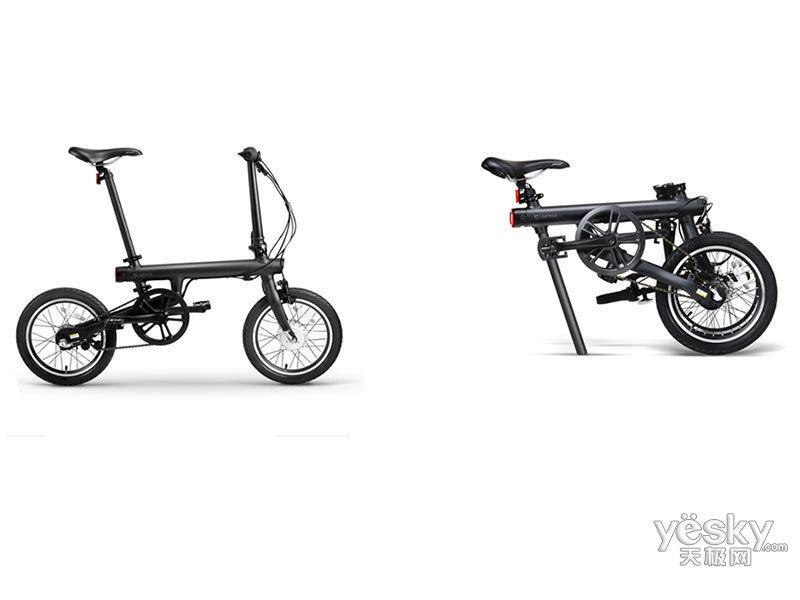 小米米家骑记电助力折叠自行车