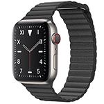 苹果Watch Edition Series 5(GPS+蜂窝网络/钛金属表壳/皮制回环形表带/44mm) 智能手表/苹果