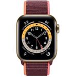 苹果Apple Watch Series 6 44mm(GPS+蜂窝网络/不锈钢表壳/回环式运动表带) 智能手表/苹果