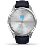 佳明GarminMove Luxe(银色表盘/海军蓝意大利皮表带) 智能手表/佳明