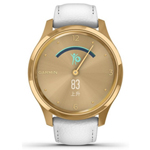 佳明GarminMove Luxe(金色表盘/白色意大利皮表带) 智能手表/佳明