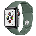 苹果Watch Series 5(GPS+蜂窝网络/不锈钢表壳/运动表带/40mm) 智能手表/苹果